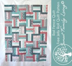 Rail fence quilt | free quilt pattern | jelly roll pattern | beginner quilt pattern | jelly roll quilt pattern
