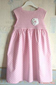 """Платье для Анютки - """"Шью - вяжу - соединяю""""))...или """"Комбинированные вещи""""...или """"Сочетание вязания и шитья"""" - Страна Мам [] #<br/> # #Tissue<br/>"""