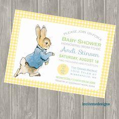 Peter Rabbit Baby Shower Invitation Birth By Invitemedesigns, $15.00