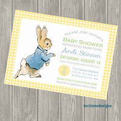 Nice Peter Rabbit Baby Shower Invitation Birth By Invitemedesigns, $15.00