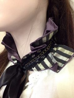 Steampunk Victorian choker neck piece purple by FayeTalityCouture