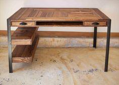 Pallet Desk with Drawers and shelves | Pallet Furniture DIY