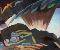 Shellburst by Eric Robertson (1887-1941)