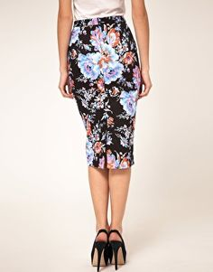 Not sure if I could actually do floral print BUT if I could this skirt is beautiful. ASOS Pencil Skirt in Floral Print