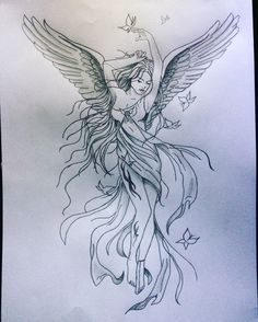 - Best Picture For salute foto For Your Taste You are looking for something, and it is going to tel - Virgo Tattoo Designs, Fairy Tattoo Designs, Music Tattoo Designs, Small Guardian Angel Tattoos, Small Fairy Tattoos, Beautiful Angel Tattoos, Art Sketches, Art Drawings, Angel Drawing