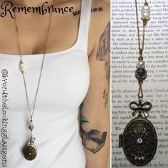 A personal favorite from my Etsy shop https://www.etsy.com/ca/listing/472001236/remembrance-gemstone-locket-necklace