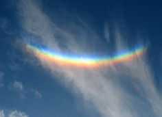 The 'upside-down rainbow', spotted over Sussex, is in fact not a rainbow at all.
