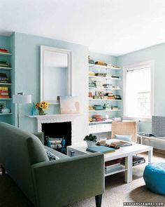 Pale blue walls