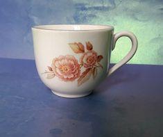 Vintage Scandinavian Pottery Norway Porcelain Norge Porsgrund Porsgrunn CUP rose #MidCenturyModern