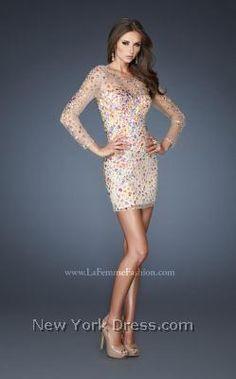 La Femme 19005 - NewYorkDress.com NOW we're talkin' BLING!!!
