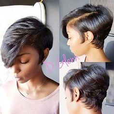 20 popular bob hairstyles for black woman – My hair and beauty Short Curly Hair Black, Short Hair Cuts, Pixie Cuts, Long Hair, Wavy Hair, Pixie Cut Black Girl, Short Afro, Thick Hair, Wigs With Bangs