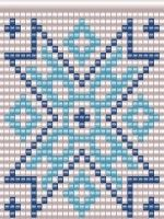 Схема графического узора ткачество бисером