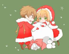 Syaoran and Sakura chibi Christmas is the Cutest time of year