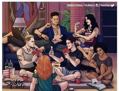 """622 aprecieri, 4 comentarii - Lightwood-bane (@malec_lightwood_bane) pe Instagram: """"This is amazing. I love how Alec sleeping on Magnus's lap without joining his friends. He adore…"""""""
