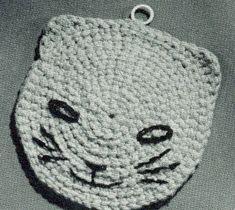 Cat Potholder Pattern | Crochet Patterns