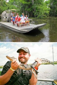 Swamp boat tour! Click through to read the top 10 things to do in New Orleans!