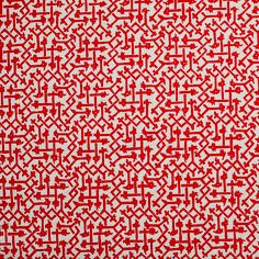 This Fortuny fabric feels so fresh in this vibrant red
