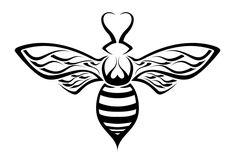 bee art | Bee Design 6 by Stripe-O