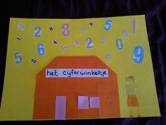 Het cijferwinkeltje Letter School, Wolf, I Love School, Number Games, Shop Till You Drop, Child Development, Activities For Kids, Letters, Math