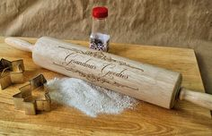 Personalized Rolling Pin, Gifts for Grandma, Engraved Wooden Rolling Pin, Baking Gift, Kitchen Gift Idea, Rolling pin, Grandma Gift by ScissorMill on Etsy https://www.etsy.com/listing/109825562/personalized-rolling-pin-gifts-for