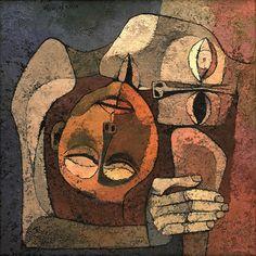 iosonorockmaballoiltango:  Pensa all'amore come a uno stato di grazia, non come a uno strumento per raggiungere un fine, ma come l'alfa e l'omega, in se stesso contenuto. Gabriel Garcia Marquez (Pic by Oswaldo Guayasamín, L'abbraccio)