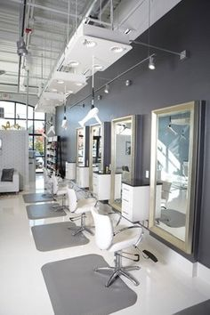 salon soft grey decor chrome - Google Search