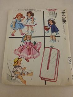 McCalls Pattern 2057 Doll Clothes