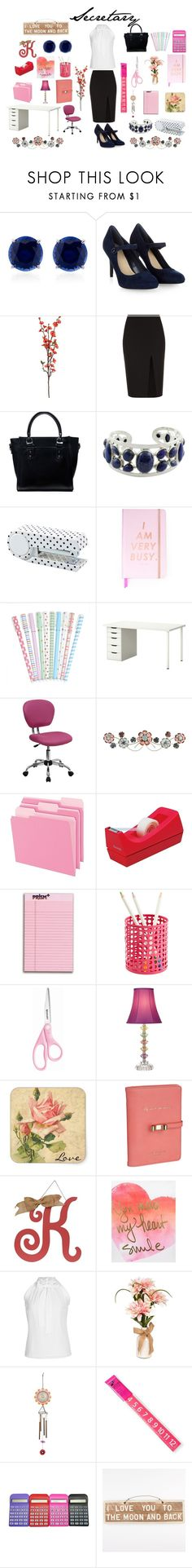 """""""Little Secretary"""" by bittersweetsymphomy ❤ liked on Polyvore featuring CARAT* London, Monsoon, A.L.C., JAY. M, NOVICA, ban.do, Flash Furniture, Pendaflex, Scotch and Universal Lighting and Decor"""