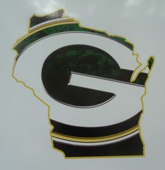 Wall Art Sports Decal GREEN BAY PACKERS State Of Wisconsin Wall Decal Sticker