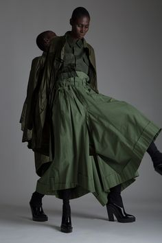 Vintage Junya Watanabe Comme des Garçons Trousers, Military Shirt and Parka. Designer Clothing Dark Minimal Street Style Fashion