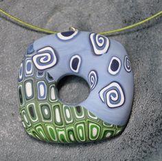 modro zelený donut
