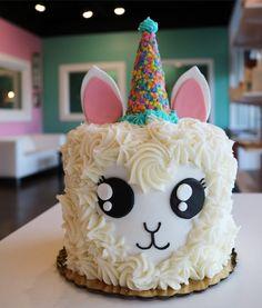 Llama Birthday Party Cake | 3 Sweet Girls Cakery Little Girl Birthday Cakes, 14th Birthday Cakes, Little Girl Cakes, Pretty Birthday Cakes, Birthday Cakes For Children, 18th Birthday Cake For Girls, Children Cake, Birthday Ideas, Llama Birthday