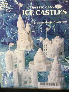 Christmas village Plastic canvas ice castles by ChangingTide