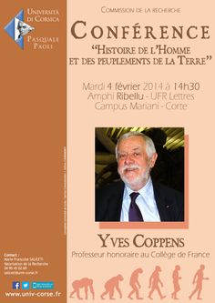 Conférence d'Yves Coppens - Histoire de l'Homme et des peuplements de la Terre