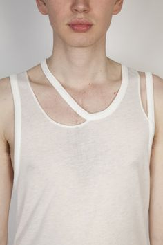 White Vest with detached edges - SS12- makin jan ma