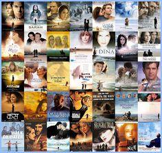 tipos clichês de capas de filmes - Cabeções no céu com pessoas em tamanho reduzido numa praia.