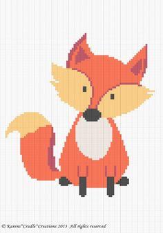 Crochet Patterns - FOX Woodland Baby Afghan Pattern *EASY picclick.com