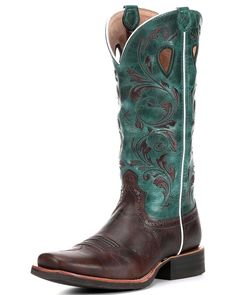 This boot is designed for the working and rodeo cowboy. The heel is under slung but has a long base to ensure stability. The heel rand is extended to fit a heavier banded rough stock spur.If you ride ox bows, you'll find that the extended welt and mid sole provide more comfort than a typical 3/4 welted boot. The top leathers are soft if you need to wrap the shaft (rough stock cowboys).The heels are nailed on so that the whole outsole isn't torn off during a m...