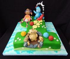 1 In The Night Garden Cake - Cake by Elizabeth Miles Cake Design Garden Birthday Cake, Toddler Birthday Cakes, Twin First Birthday, 1st Birthday Cakes, 1st Birthday Parties, Birthday Ideas, Christening Cake Boy, Garden Cakes, First Birthdays