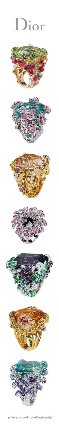 Dior Joaillerie Rings. These make me think of different Disney princess