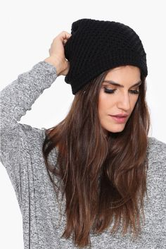 Knitty Gritty Beanie in Black | Necessary Clothing