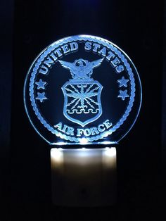 United States Air Force Night Light by DJLaserCraft on Etsy  Perfect For Kids Rooms