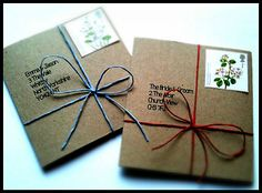 Handmade Rustic Simple Eco Wedding Invitations - Ready made, DIY or TEMPLATE on eBay!