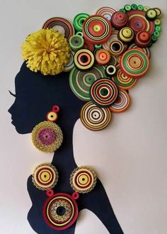African girl - Quilling Portraits - paper quilling - Black beauty,African girl - Quilling Portraits - paper quilling - Black beauty Contemporary Arrangements with Frame Types By placing your photos inside, it is simp. Arte Quilling, Paper Quilling Designs, Quilling Paper Craft, Quilling Patterns, Paper Crafts, Frames On Wall, Framed Wall Art, Afrique Art, Art Africain