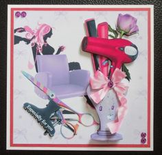 Luxury handmade easel hairdresser birthday card girl fun a mini kit for the ladies and more especially for those who are hairdressers will work for birthday or maybe as a thank yo bookmarktalkfo Images