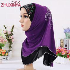 2017 New Women Multicolor Crystal Printed Muslim Hijab, Winter Warm Purple Lace Underwear Headband Scarves #Muslim fashion http://www.ku-ki-shop.com/shop/muslim-fashion/2017-new-women-multicolor-crystal-printed-muslim-hijab-winter-warm-purple-lace-underwear-headband-scarves/