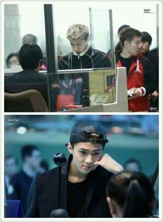 The way #SEHUN looks at the male staff and the way he smiles at the female staff ~~Omg Sehun pls xd