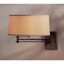 View the Hubbardton Forge 209301 Single Light Direct Wire Swing Arm Wall Sconce from the Forged Bar Collection at LightingDirect.com.