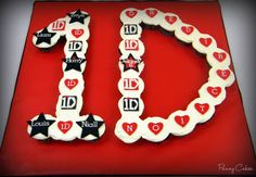 one direction cakes | One Direction Cupcake Cake for a special little girl.. Cupcakes are ...