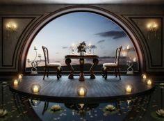 Romantyczna kolacja we dwoje w takim otoczeniu będzie na pewno niezapomnianym przeżyciem. Idealne wnętrze na oświadczyny! :)